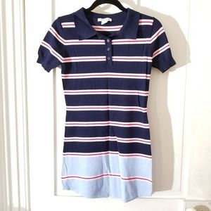 Urban Outfitters Navy Blue Stripe Polo Shirt Dress